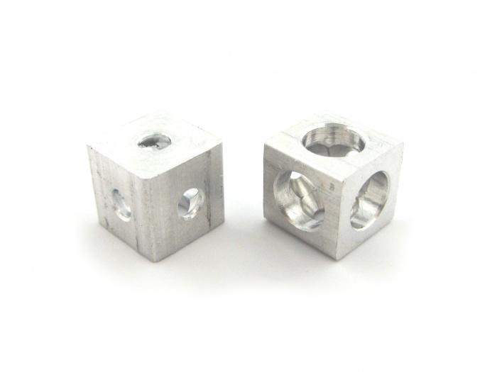 Turbo micropede | Makerbeam verbindungswürfel 10x10x10, aluminium VU62